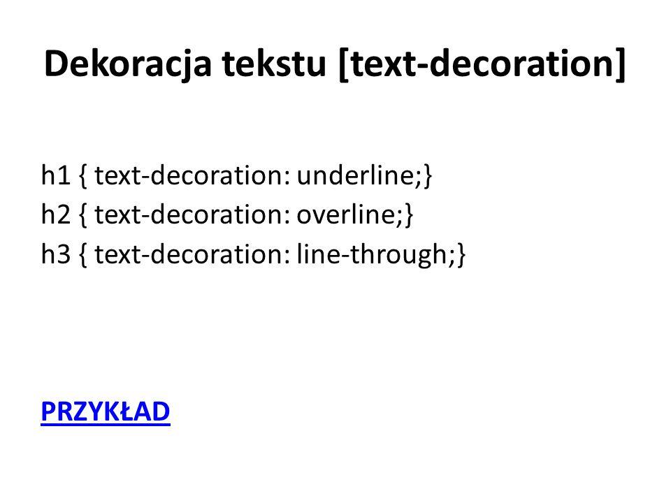 Dekoracja tekstu [text-decoration]